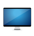 Computer display with blank blue screen vector image