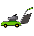 Green Lawn Mower vector image