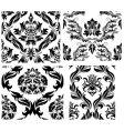 damask patterns set vector image vector image