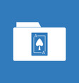 icon playing card on folder vector image