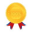 100 percent guarantee satisfaction quality vector image