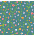 Colorful seamless pattern with flowers vector image vector image