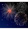 Three types of fireworks vector image