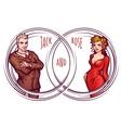 elegant man and women vector image