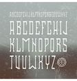 Medium serif font in retro style vector image