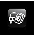 taxi price icon vector image vector image
