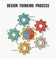 Design thinking process concept guide design vector image