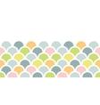 Abstract colorful fishscale horizontal seamless vector image