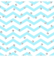 Chevron zigzag blue and white seamless pattern vector image