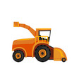 combine farm machinery agricultural harvester vector image