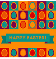 Easter card with egg pattern vector image