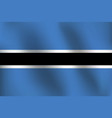 flag of botswana - vector image