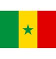 Flag of Senegal vector image