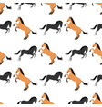 horse pony stallion seamless pattern color farm vector image