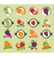 Set of various fresh fruit premium quality tag vector image