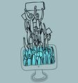 social web strikers vector image