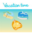 vacation icon set vector image