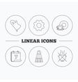 Salt potholder and food drink icons vector image
