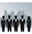 business people teamwork urban background vector image