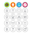 baby and maternity line icon pacifier diapers vector image