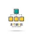 linear icon - joint business vector image