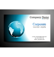 business card design with globe vector image vector image