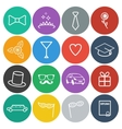 Flat Prom Icons vector image