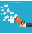 Flat loudspeaker icon Management concept Social vector image vector image