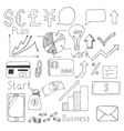 Set of hand drawn business elements vector image