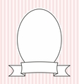 Photo frame on pastel pink and white stripes vector image