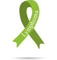 Cancer Ribbon Lymphoma International Day of vector image