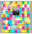 Banners set Abstract colorful business vector image
