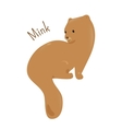 Mink isolated Child fun pattern icon vector image