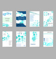 brochure design geometric abstract business vector image