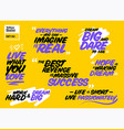 collection of famous inspirational quotes vector image