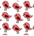 cute bird animal natural seamless pattern vector image
