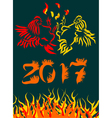 for Chinese New Year of the Rooster 2 vector image