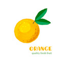 fresh orange isolated on white background vector image