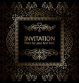 intricate baroque luxury wedding invitation card vector image