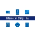 IoT - Home Appliances Icons vector image