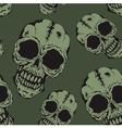 Pattern skull vector image