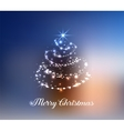 Stylized Christmas tree pine vector image