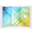 Tri-fold brochure design template vector image
