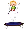 trampoline kid vector image vector image