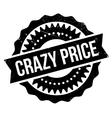 Crazy price stamp vector image