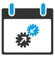Gears Integration Calendar Day Toolbar Icon vector image