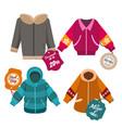winter sale coats labels vector image