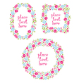 Set Of Three Floral Wreaths vector image vector image