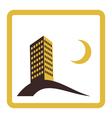 night city icon design vector image vector image