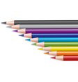 vector set of colored pencils vector image vector image